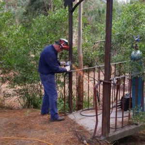 Blackwood bridge, welding.